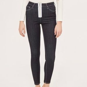 NWT // Topshop Jamie Exposed Zip Skinny Jeans